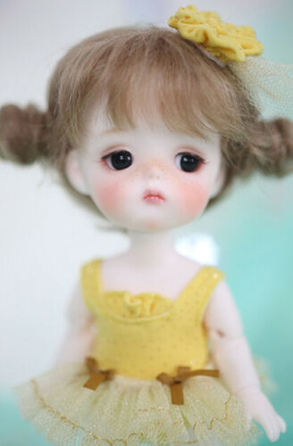 1//8 Mini Bjd Doll Mong Dolls Cute Baby Resin Free Big Eyes With Face Make Up