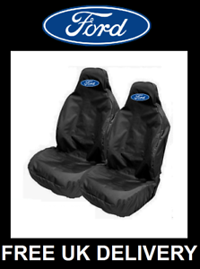 FORD FOCUS ST Black Sports Car Seat Covers Protectors x2 Recaro FORD