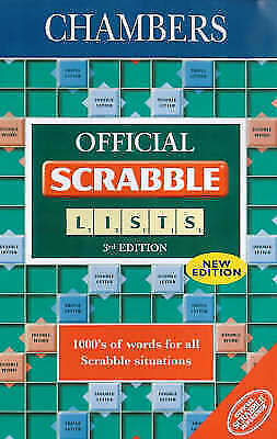 Chambers Official Scrabble Lists by Simmons, Allan, Francis, Darryl, Acceptable