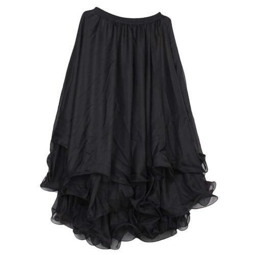 13 Yard 3-layer Full Circle Belly Dance Skirt Chiffon Flowing Flared Dress UK