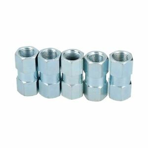 M10-x-1mm-Inline-Female-Brake-Pipe-Joiner-Connector-Fitting-For-3-16-Pipe-5pc