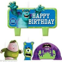 Monsters University Inc Candle Set (4) Birthday Party Supplies Cake Decorations
