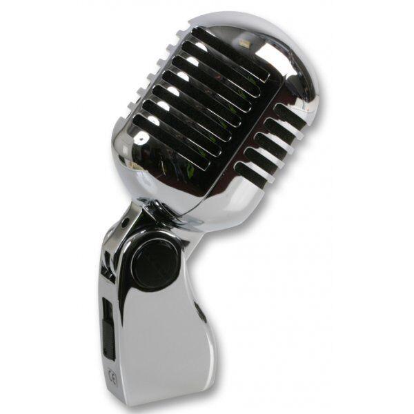 Pulso dinámico 50 De Estilo Retro Cromado Micrófono vocal dinámico Pulso 51f08d