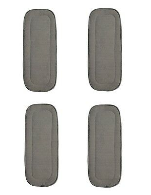 """4 PACK BAMBOO CHARCOAL INSERTS 5 LAYERS LARGE 14/"""" X 5/' FITS KAWAII BABY NEW"""