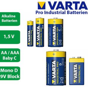 Varta Pro Industrial AA Mignon - AAA Micro - Baby C - Mono D - 9V Block Batterie