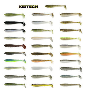 Keitech-Fat-Swing-Impact-Swimbait-3-8-Choice-of-Colors