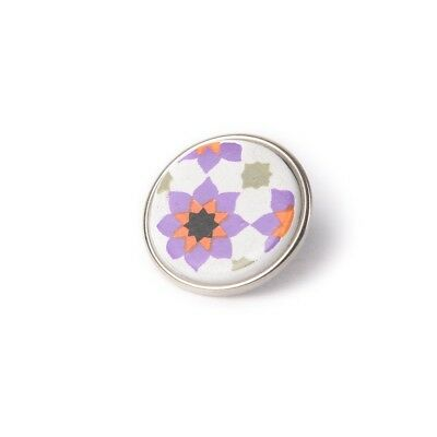 Handgefertigter Mode Dauerhafte Modellierung Modeschmuck Noosa Amsterdam Chunk 098 Souk Tile Purple/ White-ceramic