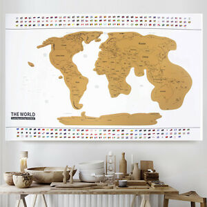 Deluxe travel world map edition scratch off map poster image is loading deluxe travel world map edition scratch off map gumiabroncs Images