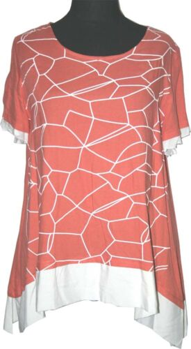 Zedd plus lin Tshirt 2in1 Look Taille 5052 4 Coralle Orange afficher le titre d'origine