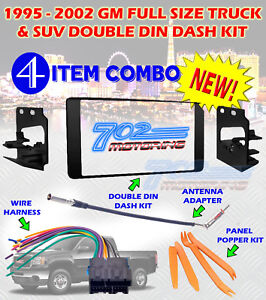 1995-2002-GM-FULL-SIZE-TRUCK-amp-SUV-DOUBLE-DIN-CAR-STEREO-INSTALLATION-DASH-KIT-B