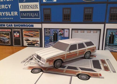 Papercraft 1982 1983 Chrysler Town /& Country station wagon Paper Model EZU-make