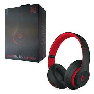 Beats By Dr Dre Studio 3 Wireless Headphones Defiant Black Red Ebay