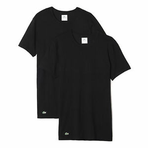 4b3299c7110 Image is loading LACOSTE-NEW-Mens-Crew-Neck-2-Pack-Tshirts-