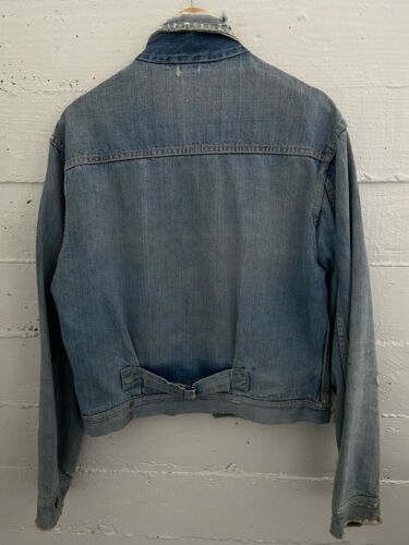 Vintage 1940's Tuf-Nut Denim Buckleback Jacket Wor