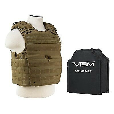 NcSTAR EXPERT PLATE  CARRIER VEST (MED-2XL) WITH 10 X12' LEVEL IIIA SHOOTERS CUT  sale outlet