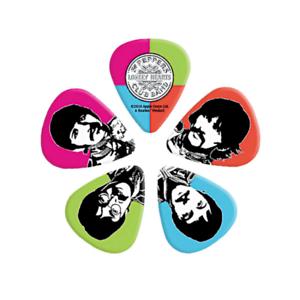 Beatles-Sgt-Pepper-Guitar-Picks-10-pack-Medium-50th-Anniversary-D-039-Addario