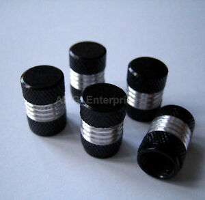 Black-Alloy-Dust-Valve-Caps-for-Peugeot-106-206-306-406-HDi-GTi-107-1007-207-208