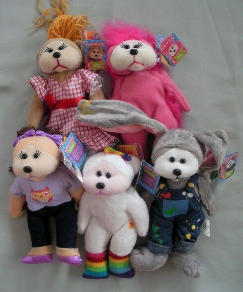 SKANSEN BEANIE KID   MARCH 2012 RELEASE  SET OF 5 BEARS   MINT WITH MINT TAGS