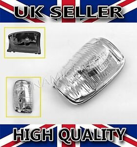Door Wing Mirror Indicator Lens Clear LH Side Passenger Side