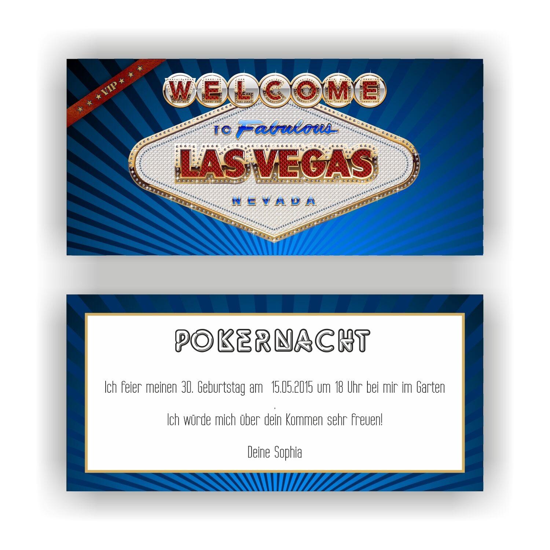 Einladungskarte Geburtstag Einladung Einladungen Las Vegas Casino Pokern VIP E36     Neu    Zürich Online Shop