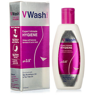 V WASH PLUS 100 ml Expert Intimate Hygiene Unique pH 3.5 Balance, FREE SHIPPING