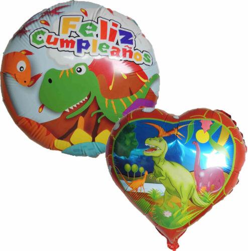 2PCS DINOSAUR T-REX FELIZ CUMPLEAÑO HAPPY BIRTHDAY BALLOON PARTY SUPPLIES GIFT