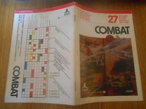 Combat-Notice-Atari-2600-sans-jeu-etat-correct