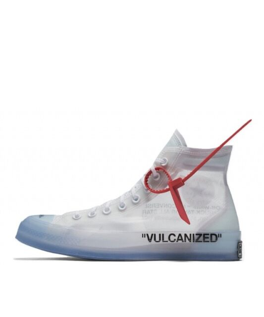 Converse Chuck 70 Hi Taylor Ct The 10 Off-white Clear Virgil Abloh ... a2e5d6983