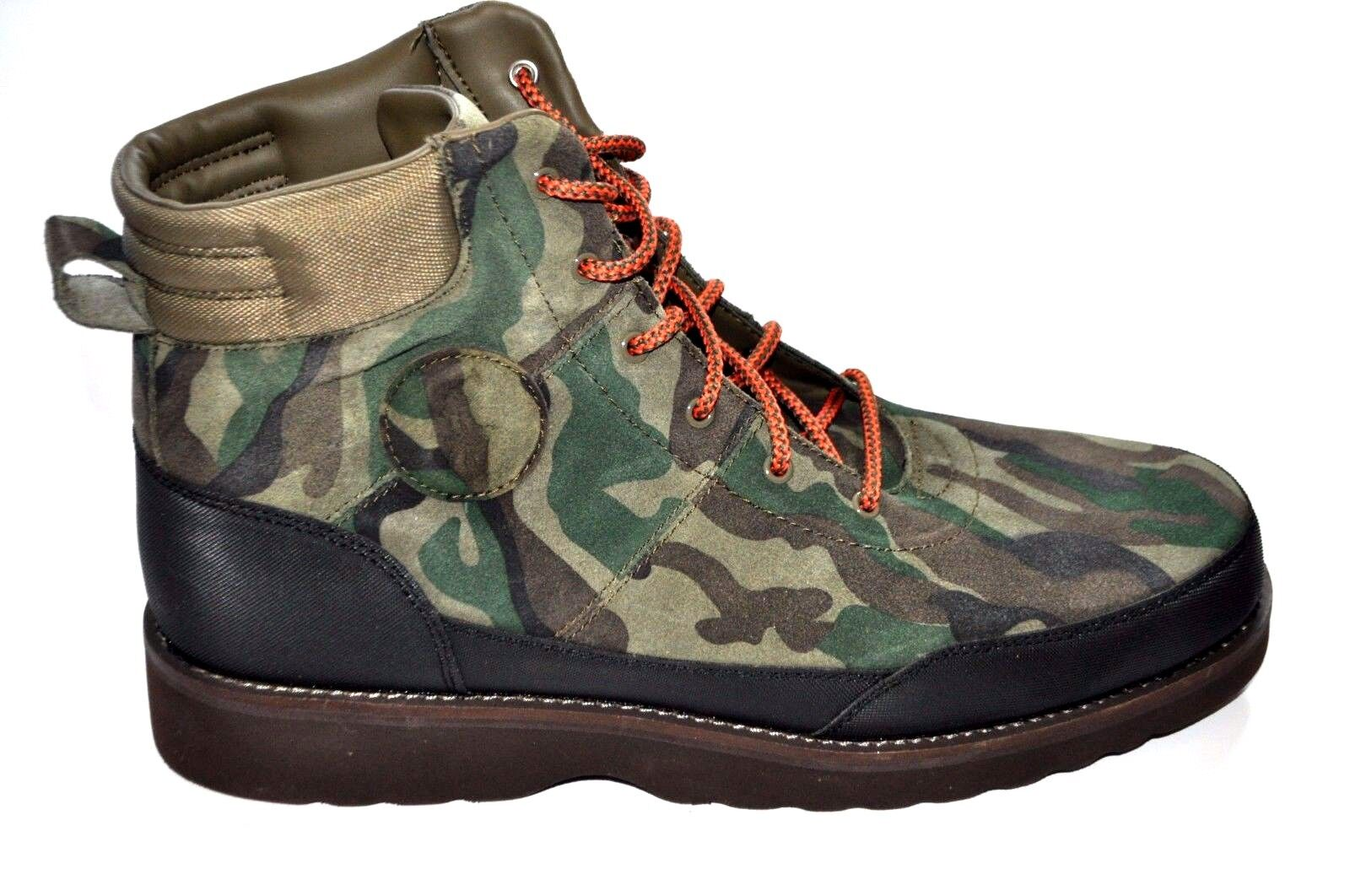 POLO RALPH LAUREN Men's BEARSTED CAMO BOOTS SUEDE ANKLE LEATHER HIKING 10.5