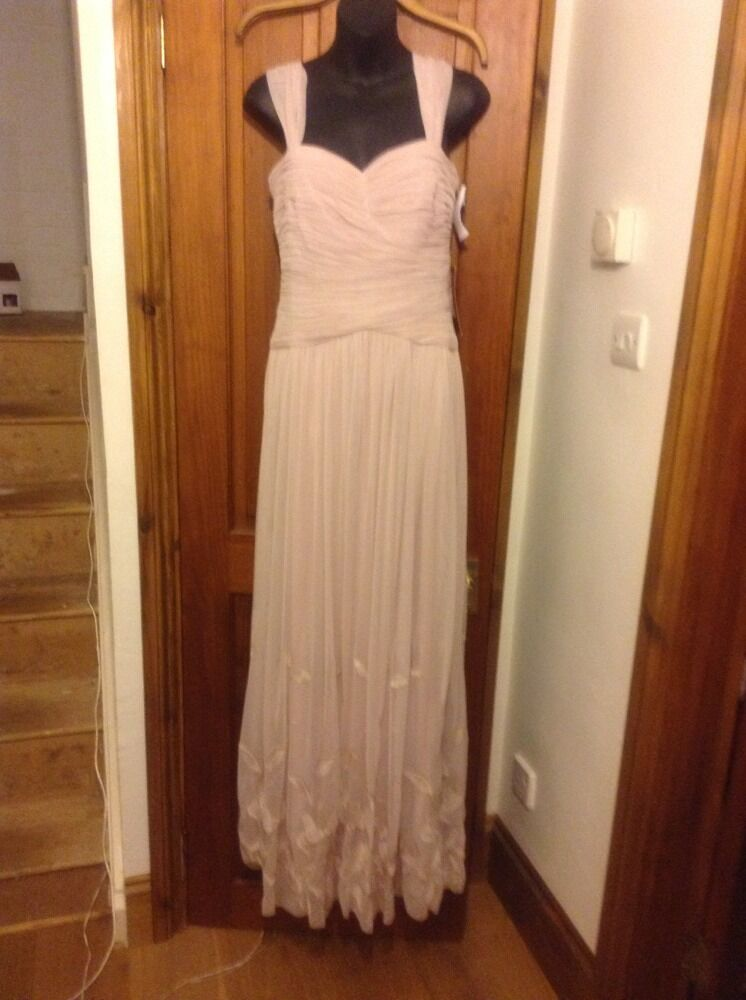 PINK LONG DRESS 8 Embroidered JS COLLECTION Evening House Of Fraser BNWT