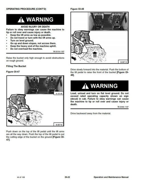 Bobcat 453 Skid Steer Loader Operation Maintenance Manual 6900784 S&h