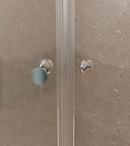 Duschkabine Runddusche 195cm Viertelkreis Duschtür Nano Beschichtung aus 6mm ESG