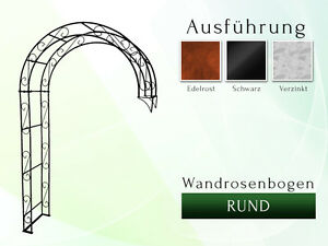 Halbpergola wandrosenbogen arc de rose métal pergola largeur 1,80 M environ  </span>