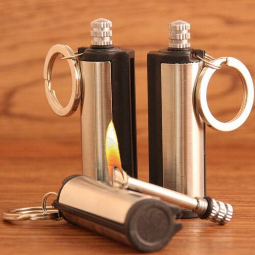 Steel Fire Starter Flint Match Lighter Survival Kit Keychain Camping Emergency