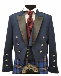 Prince-Charlie-Jacket-Blue-With-Waistcoat-Made-to-Measure-Scottish-Kilt-Jacket