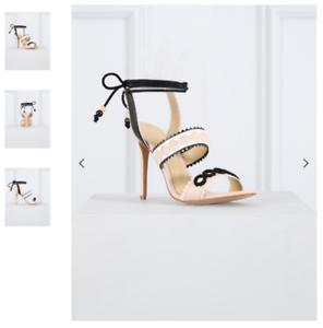 Descuento de liquidación 165 NEW Forever Unique Harlem Nude White Heel Shoe Strappy Sandal Peep 5 38