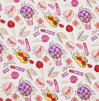 Robert Kaufman 100% Cotton Lovely Girly Glamour Girl Fabric Sold By The Yard