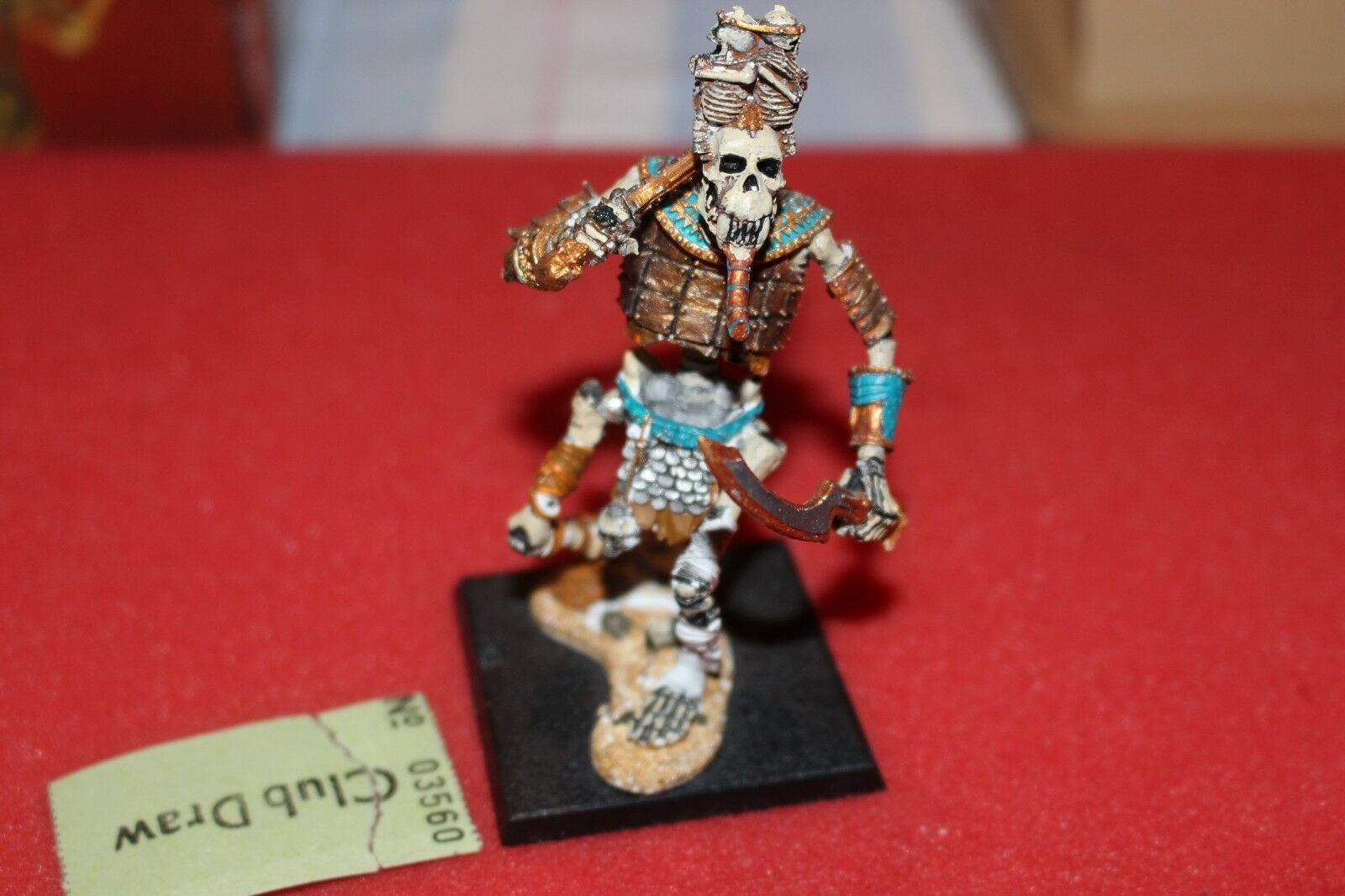 WARHAMMER Fantasy Tomb Kings OSSO GIGANTE Figura Metallo Khemri Games Workshop FUORI CATALOGO