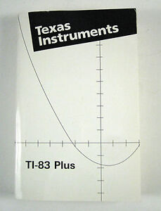 Texas-Instruments-TI-83-Plus-Graphing-Calculator-Guidebook-ONLY-Owners-Manual
