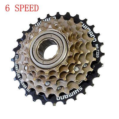 top- leavr 6 Six Speed Shimano  MF-TZ20 Tourney  Screw Bike Freewheel 14 - 28