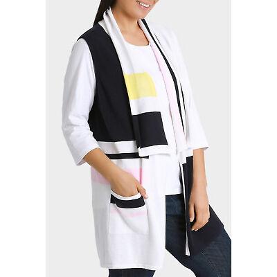 NEW Yarra Trail Woman Stripe Knit Vest Navy