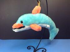 "Vintage Superior Toy & Novelty Co Blue Dolphin 12"" Plush Stuffed Prize Animal"
