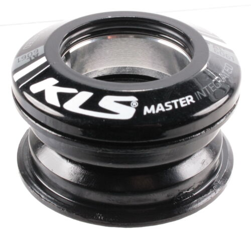 "KLS Press Fit Internal Threadless Headset 1-1//8/"" Loose Ball Bearing Black"