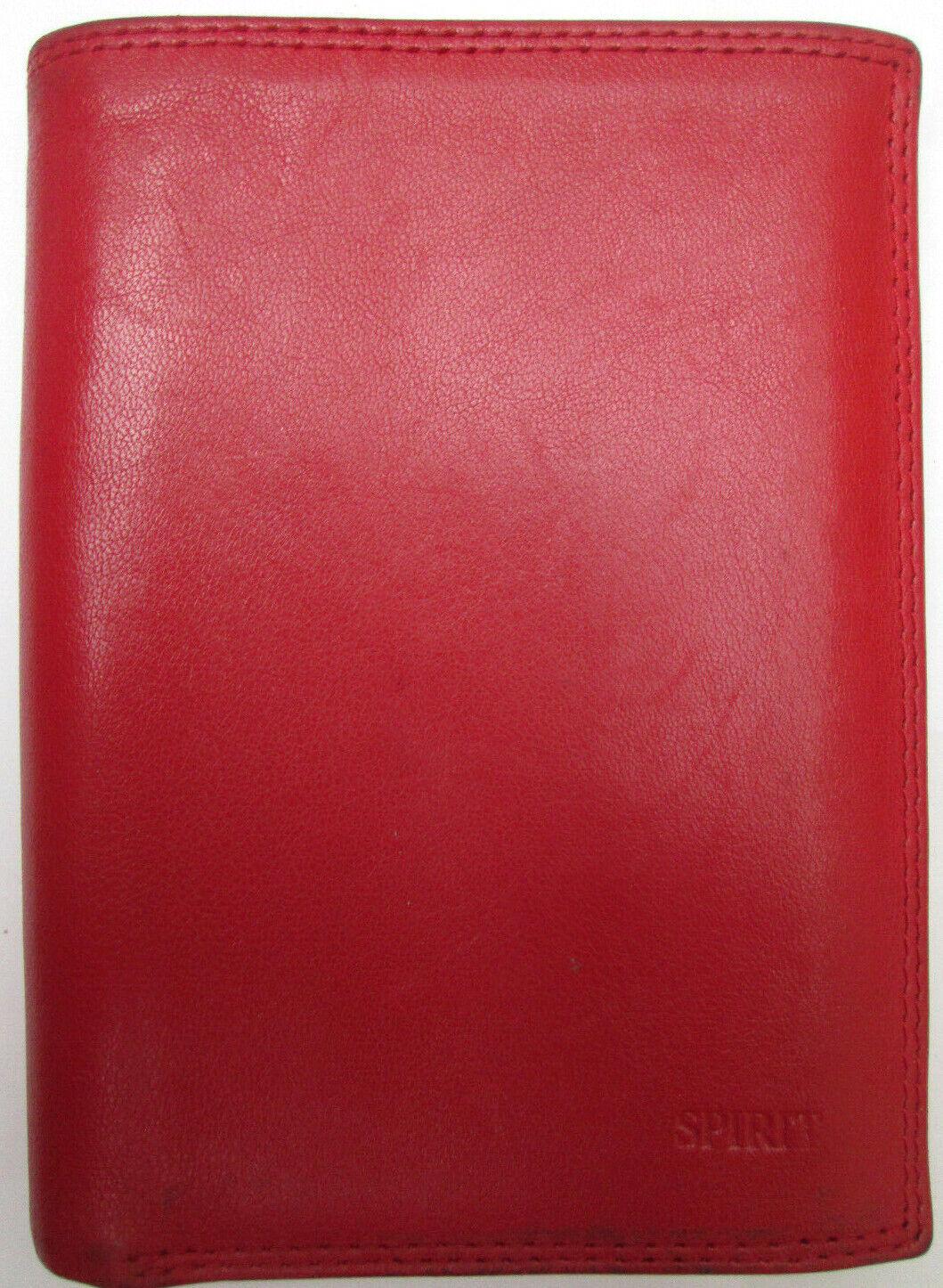 - SPIRIT Portefeuille/porte-monnaie cuir TBEG vintage