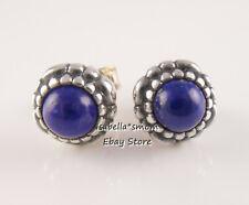 Item 3 September Birthday Bloom Genuine Pandora Lapis Lazuli Earring Studs 290543lp New