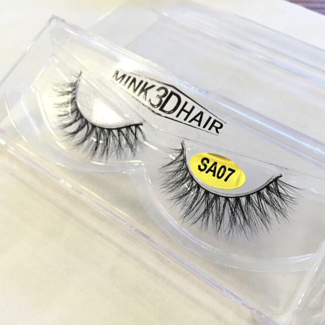 Hot Luxurious Mink Fur Eye Lashes Messy Medium Natural 3D False Eyelashes Makeup