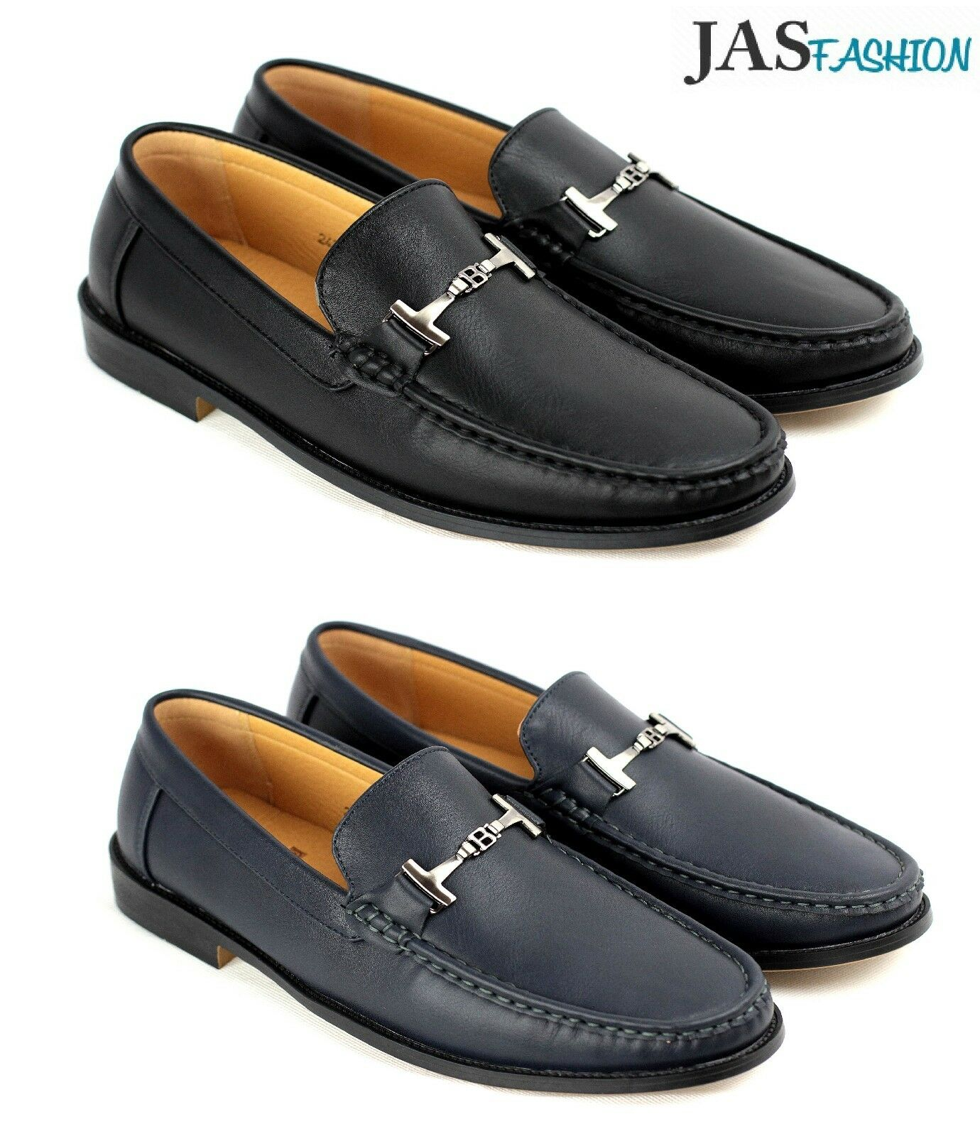 New Mens Slip on Loafer Casual Driving  Moccasin Synthetic Leather Smart Shoe UK