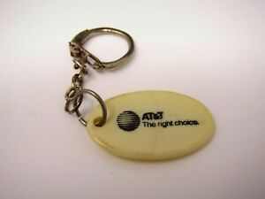 Vintage AT/&T Long Distance Brass Key Chain
