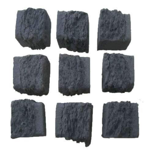LARGE 50MM UK RCF MANUFACTURED Gas Fire Replacement Coals Ceramic SQUARE Shape