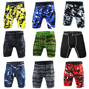 Mens-Athletic-Compression-Underwear-Running-Tights-Athletic-Bottoms-Camo-Shorts